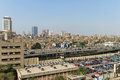Elevated expressway cairo egypt mart traffic on mart road in central egypt Royalty Free Stock Photography