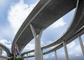 Elevated expressway the curve of thailand Royalty Free Stock Images