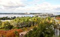 Elevated South Perth View and Swan River: Western Australia Royalty Free Stock Photo