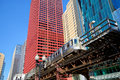 Elevated train in Chicago Royalty Free Stock Photo