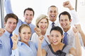Elevated View Of Happy And Positive Business People Royalty Free Stock Photo