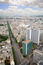 Elevated View of Paris, France Royalty Free Stock Photography
