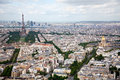 Elevated View of Paris, France Royalty Free Stock Photos