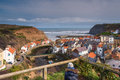 Elevated View of Staithes Village Royalty Free Stock Photo