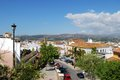 Elevated view of town, Velez Malaga, Spain. Royalty Free Stock Images