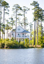 Elevated Waterfront Home Royalty Free Stock Photography