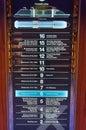 Elevator directory cruise ship celebrity reflection celebrity cruises Royalty Free Stock Photos