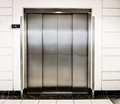 Elevator door in a modern building Stock Photo