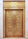 Elevator door old fashioned brass Royalty Free Stock Images