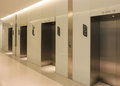 Elevator glass tubular in modern building。 Stock Photography