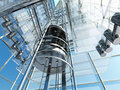 The elevator interior of a modern building with an Royalty Free Stock Photography