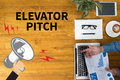 ELEVATOR PITCH Royalty Free Stock Photo