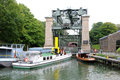 An elevator for ships in germany the henrichenburg boat lift facilitates a change elevation of the dortmund ems kanal waltrop Royalty Free Stock Photo
