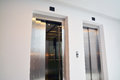 Elevator two modern doors inside a building Royalty Free Stock Photography