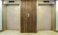 Elevators with closed door