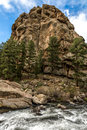 Eleven mile canyon colorado beautiful spring and summer nature landscapes taken at inside the pike national forest of south Royalty Free Stock Photo