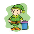 Elf in Merry Christmas holiday cartoon Royalty Free Stock Photo