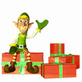 Elf with Presents Stock Image