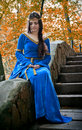 Elf princess on stone staircase Royalty Free Stock Photo