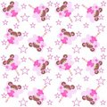 Elf seamless pattern Royalty Free Stock Photos
