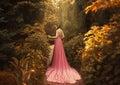 The Elf walks in the autumn garden Royalty Free Stock Photo