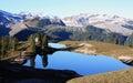 Elfin lakes and hut in garibaldi provincial park british columbia canada Stock Images