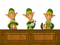 Elfs Working Stock Images