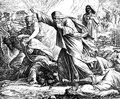 Elijah Kills Prophets of Baal Royalty Free Stock Photo
