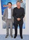 Elijah Wood, Robin Williams, Photographie stock libre de droits