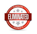 Eliminated seal illustration design Stock Photography