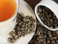 Elite oolong tea in porcelain cup Stock Photos