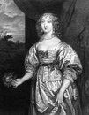 Elizabeth cecil countess of devonshire on engraving from engraved by t wright and published in portraits illustrious personages Royalty Free Stock Photography