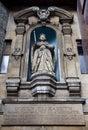 Elizabeth I Standbeeld bij St dunstan-in-de-west Royalty-vrije Stock Fotografie