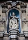 Elizabeth I Standbeeld bij St dunstan-in-de-west Royalty-vrije Stock Afbeeldingen