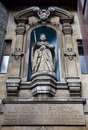 Elizabeth I Statue at St Dunstan-in-the-West Royalty Free Stock Photography