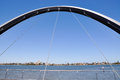 Elizabeth Quay Bridge: View Over South Perth Royalty Free Stock Photo