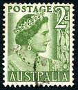 stock image of  Elizabeth the Queen Mother Australian Postage Stamp