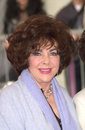 Elizabeth taylor feb actress at hollywood walk of fame star ceremony for her friend songwriter carole bayer sager paul smith Stock Photography