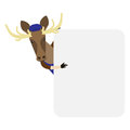 Elk banner illustration of an on a white background Royalty Free Stock Images