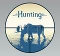 Elk in hunting crosshairs.