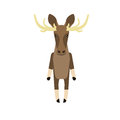 Elk illustration of on white background Stock Image