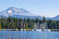 Elk Lake Boat Marina Oregon Royalty Free Stock Photo