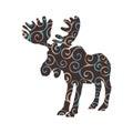 Elk mammal color silhouette animal