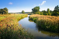 Elk river estuary to the lake haleckie masuria poland Royalty Free Stock Photography