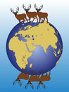 Elks walking around the wold Stock Image