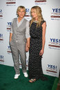 Ellen de generes portia de rossi portia derossi yes bel air ellen degeneres arriving at the on prop campaign to stop animal Stock Photography