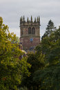 Ellesmere shropshire parish church tower of in in england Royalty Free Stock Image