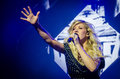 Ellie goulding british singer during a concert from march Royalty Free Stock Photography