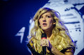 Ellie goulding british singer during a concert from march Stock Photo