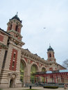 Ellis island immigration terminal on in the harbor of nyc Royalty Free Stock Photos